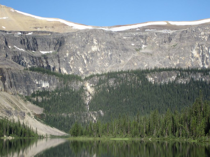 Cascading waterfall at the upper end of Luellen Lake