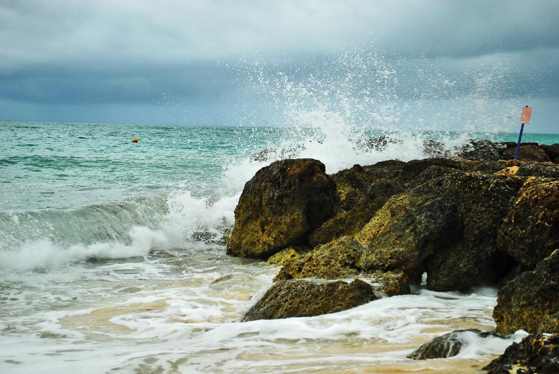 Bahamas, Island, Beach, Waves, Rock
