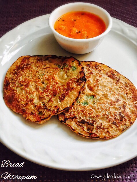 Bread Uttappam Recipe for Toddlers and Kids 4