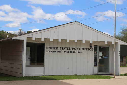 Scandinavia Wisconsin, Post Office, 54977, Waupaca County WI
