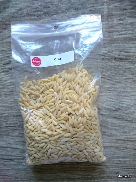 a package of orzo pasta
