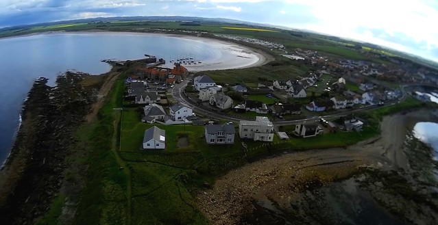 22 5 - Beadnell from overhead
