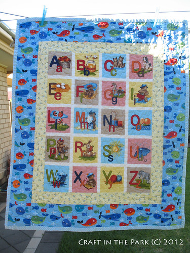 Another alphabet baby quilt by saffronbee1
