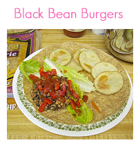 MEAL ICON Black Bean Burgers