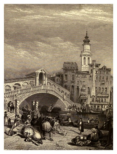 012-Puente Rialto en Venecia-Finden's illustrations of the life and works of Lord Byron…1833-William y Edward Finden