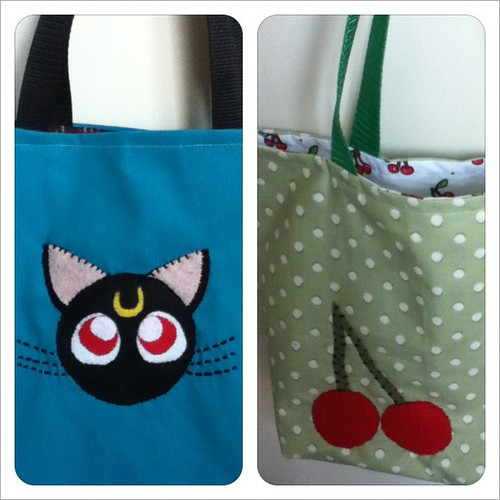 Totes for Wizard World this weekend! #sailormoon #cherries #nerdycrafts