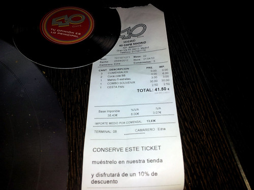 Madrid | 40 Cafe | Ticket
