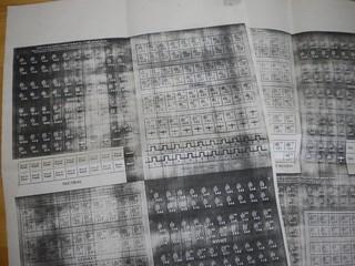 カウンターシートをコピー(たぶん1981年)