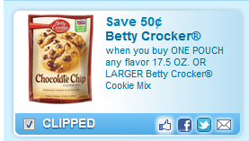 Betty Crocker Cookie Mix Coupon