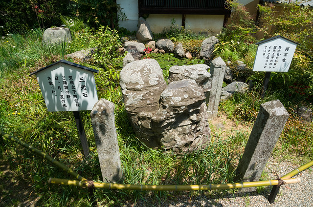 三光石と阿字池
