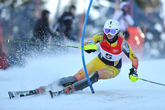 Madison Irwin  during the Audi Nor-Am Cup slalom in Mont-Sainte-Anne, Que.