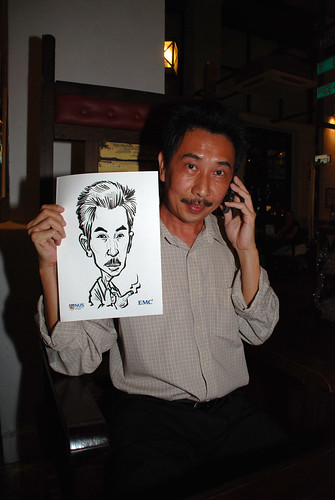 caricature live sketching for emc NUS - 16