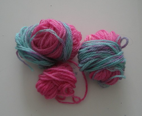 Leftover sock yarn
