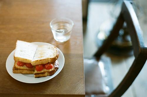 tomato open sandwich