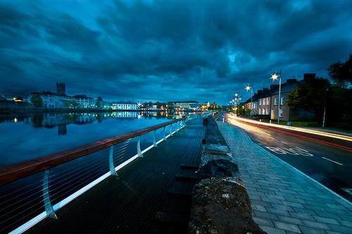 blue ireland night landscape dusk shannon limerick clancystrand