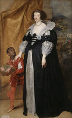 Painting: Van Dyck, Princess Henrietta of Lorraine Attended by a Page
