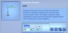 Kinematic Parasol