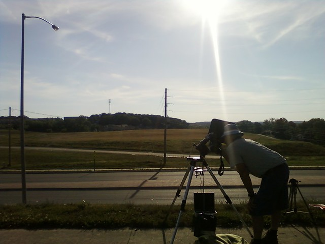 Observing Venus Transit from Lansing, Kansas