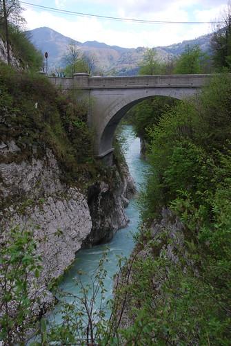 bridge river slovenia napoleon soča primorska kobarid