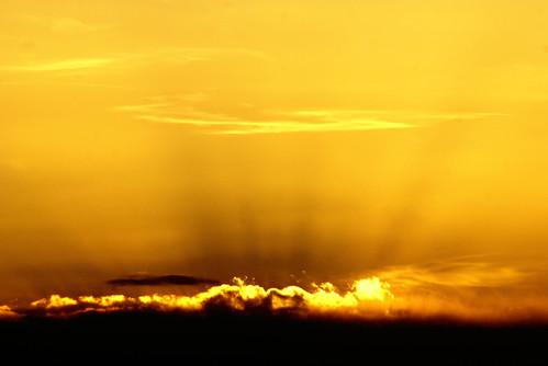 無料写真素材, 自然風景, 空, 朝焼け・夕焼け, 橙色・オレンジ