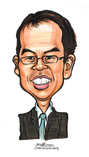 Professor Tay caricature for Thomson Medical Centre