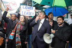 Rich Trumka tells the taxi workers they are not alone (Credit: Stan Schnier)