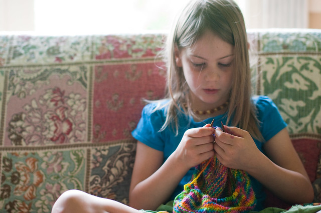 morning knitting