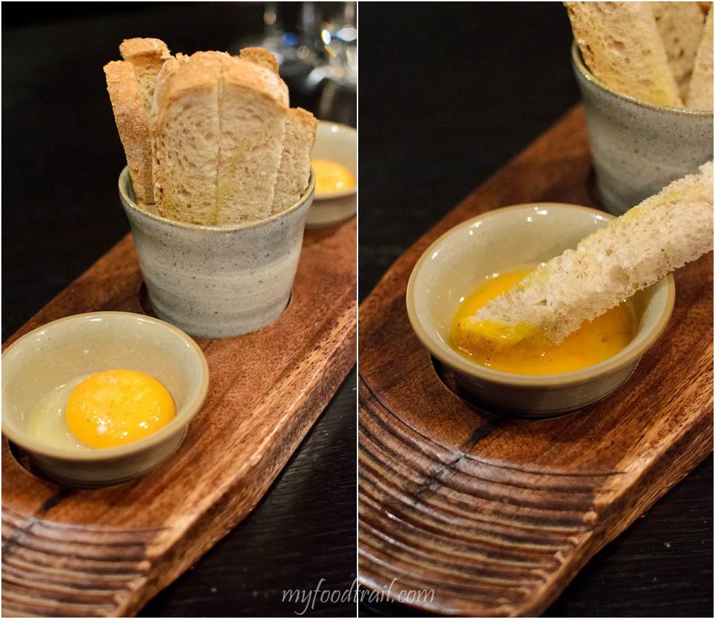 Mr Hive Kitchen & Bar - Hen egg & soldiers $8