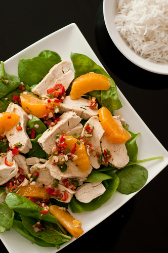 orange ginger chicken salad