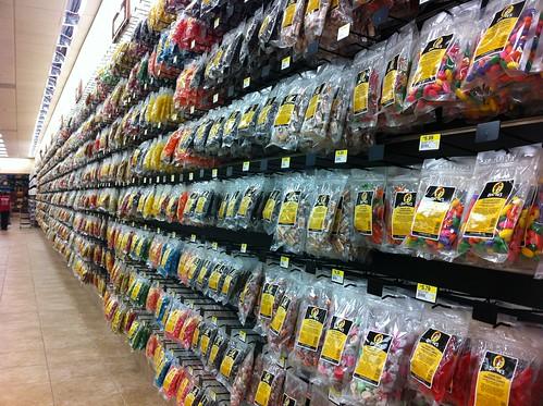 Buc-ee's wall of snacks