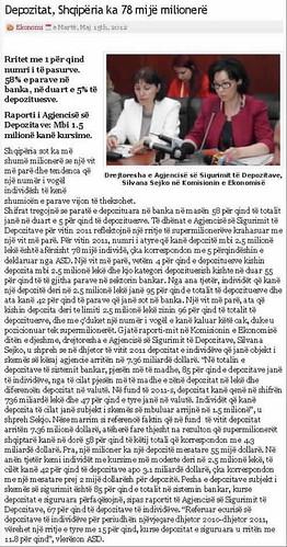 Depozitat, Shqipëria ka 78 mijë milionerë