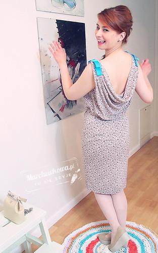 marchewkowa, blog, szafiarka, krawiectwo, szycie, DIY, bawełna w kółka, PIEGATEX, batyst, retro, vintage, 60s, sukienka, Burda 5/2012, model, dress 133, vagabond, gaga, Schaffashoes, turkmenitowe kolczyki, torebka z biglem baron