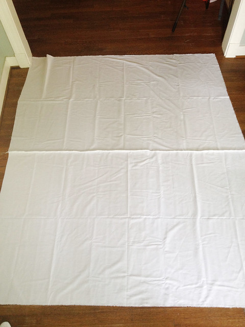 first layer of quilt on ground