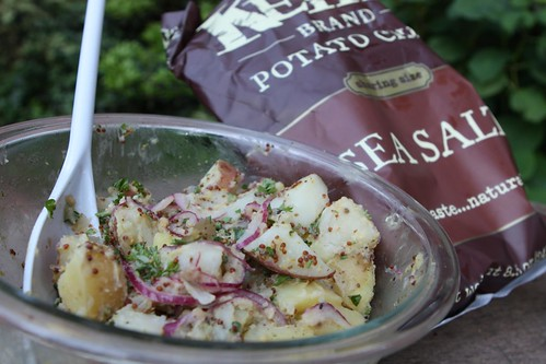 Mustard Potato Salad and Kettle Chips