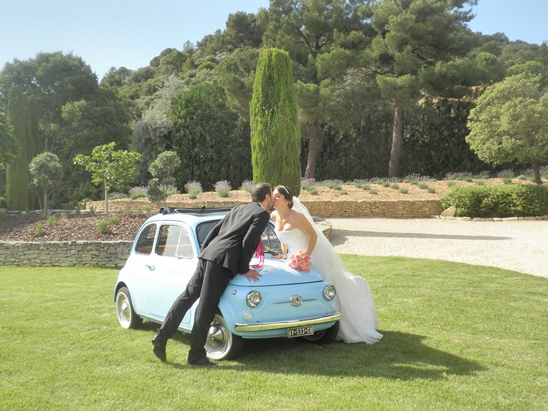 mariage fiat 500 bleue a stylefont size08em - Location Fiat 500 Mariage