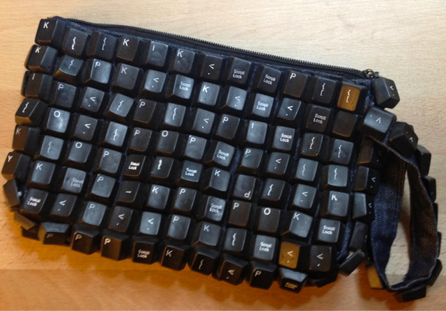 Recycled Keyboard Clutch Purse