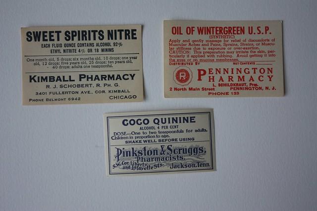 Vinatge labels