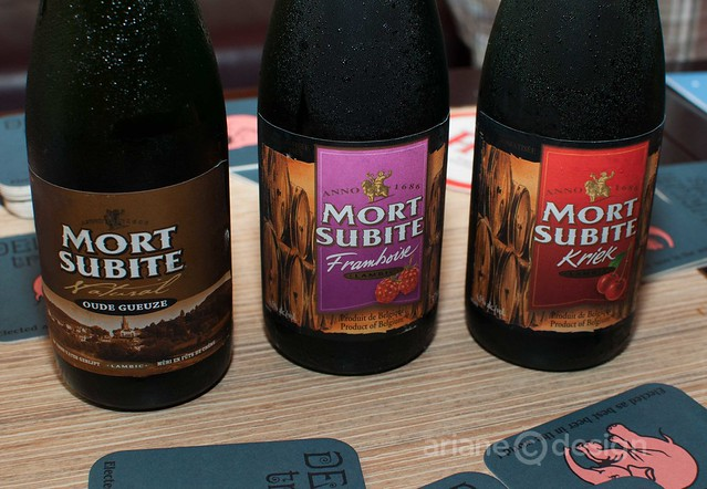 Fruity Mort Subite beer selection