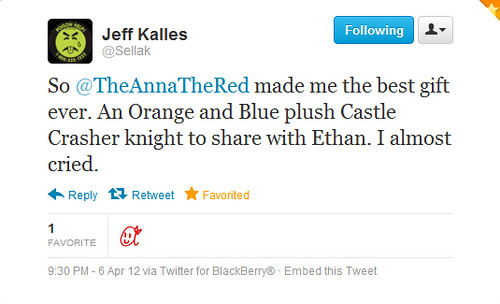 stuffed stuff: Castle Crashers tweets