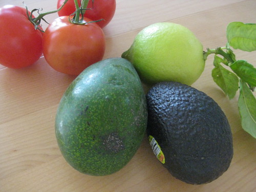 tomatoes, avocados and lemon