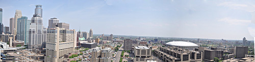 View of Minneapolis from Skyscape Condos