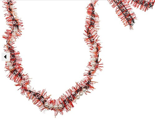 Lanvin tweed necklace close up