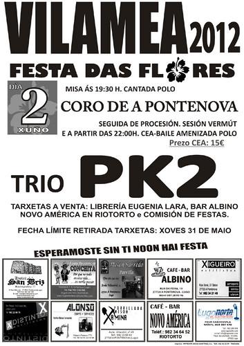 A POntenova 2012 - Festa das Flores en Vilameá - cartel