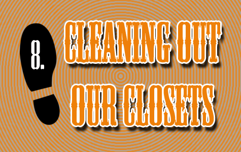 Step 8 | Cleaning out our Closets