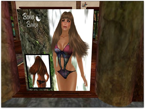Boho Baku ~ Patched boho swimsuit free gift! by Cherokeeh Asteria