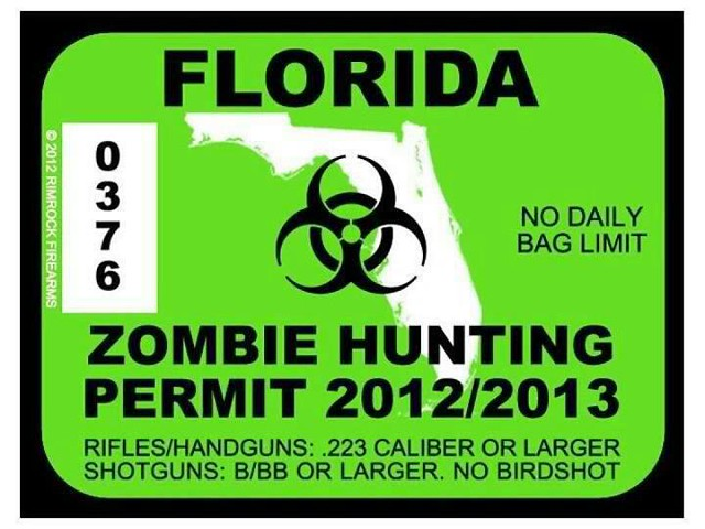 State offlorida zombie hunting license zombie