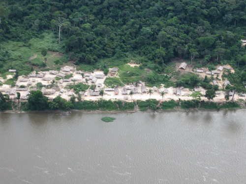 village along the Lualaba
