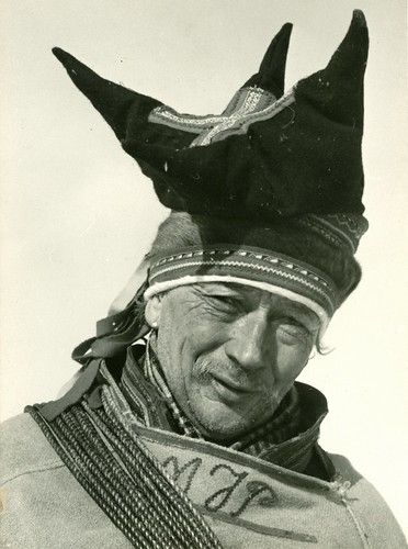 Man in  Finnmark, Norway.  Mattis Johansen Pentha, ca. 60 år. Photo by Preus Museum, 2012