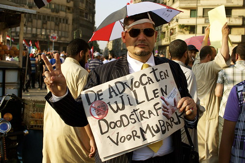 Dutch/Egyptian man on Tahrir