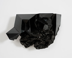 <strong>ON THE MOVE - </strong> <br />Charlotte Becket - Inkblot IV,  Insulation tape, plastic, foam, motors, 43 x 73 x 33 cm, 2009